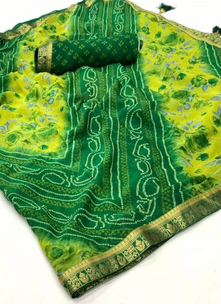 Ruchi Jalpari Chiffon Festive Wear Bandhej Latest Designer Saree Collection