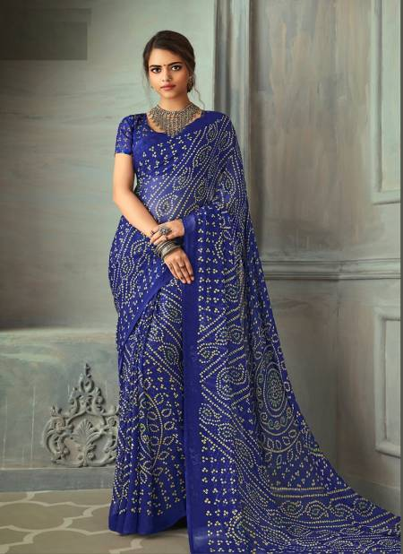 Ruchi Super Kesar Chiffon Ethnic Wear Printed Latest Designer Saree Collection