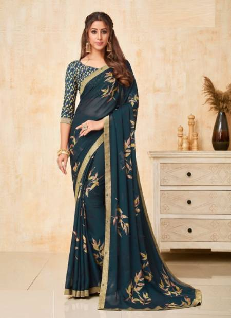 Ruchi Yashika Casual Daily Wear Georgette Printed Fancy Saree Collection