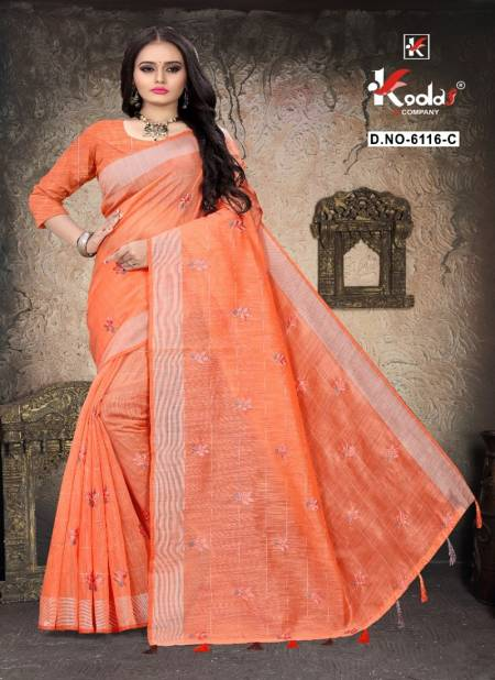 Ruhani 6116 Fancy Casual Wear Cotton Designer Sarees Collection