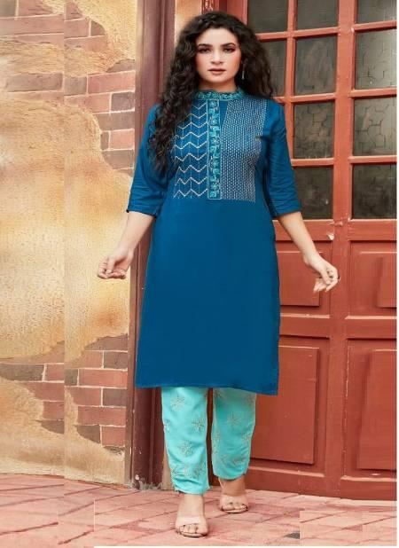 Rung Avanti Heavy Rayon Designer Ethnic Wear Latest Kurtis With Bottom Collection