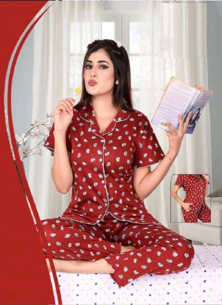 Saheli Sweety Premium Hosiery Cotton Night Wear Comfortable Printed Night Suits Collection