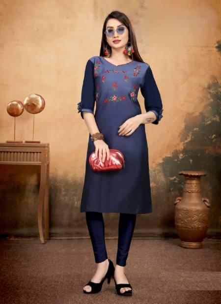 Sakhi 1 Latest Designer Ethnic Wear Jam Cotton Embroidery Kurtis Collection