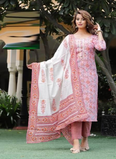 Sakhi 6 Festive Casual Wear Designer Cotton Salwar Suit Ready Made Collection