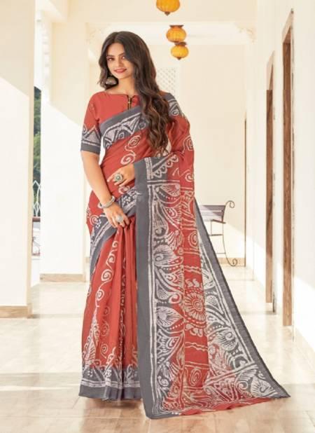 Sangam Belliza Designer Fancy Casual Wear Printed Cotton Saree Collection