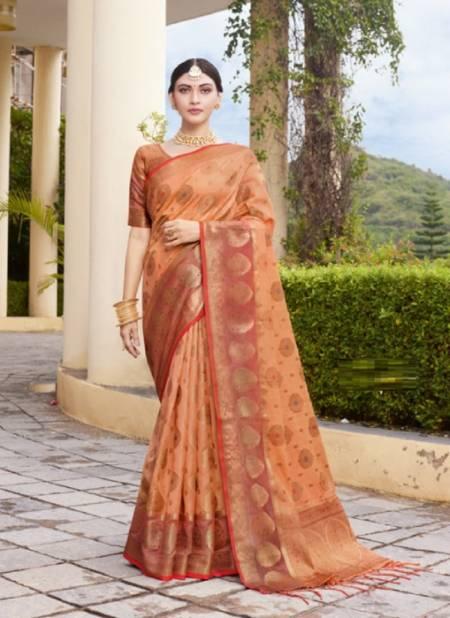 Sangam Bhavika Organza Weaving Wedding Wear Designer Silk Saree Collection