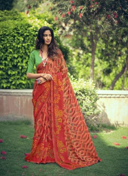 Sanskar Rahi 10 Fancy Wear Brasso Fancy Designer Ethnic Wear Saree Collection
