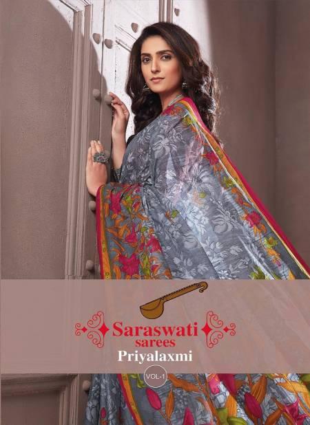 Saraswati Sarees Priyalaxmi 1 Printed Casual Wear Sarees Collection
