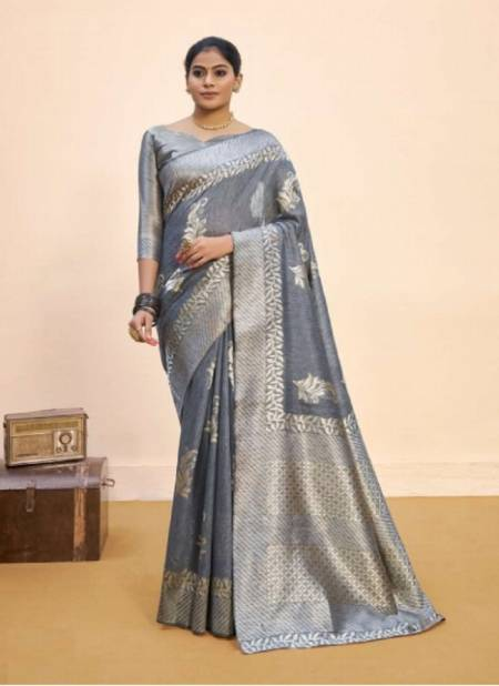 Saroj Nasheen 2 Latest Wedding Wear Linen Cotton Silk Saree Collection