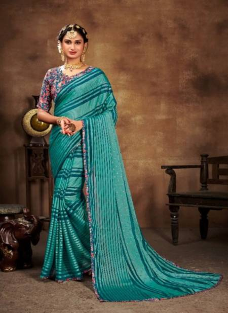 Saroj Shannu Fancy Ethnic Wear Georgette Designer Printed Saree Collection