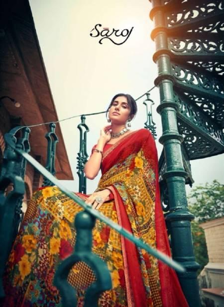Saroj Victoria 2 Georgette Casual Wear Printed Designer Saree Collection