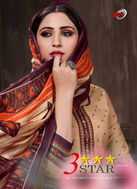 Sc Three Star vol 19 New Exclusive Cotton Printed Casual Wear Dress Material Collection