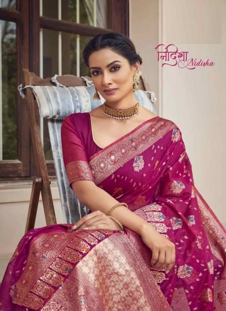 SHAKUNT NIDISHA Fancy Heavy Cotton Weaving Designer Saree Collection