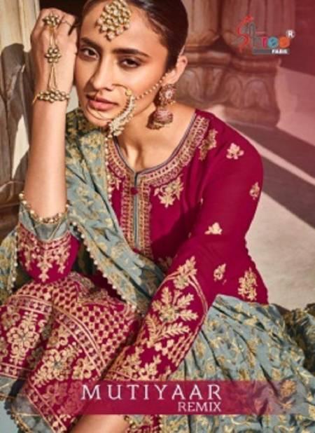 Shree Mutiyar Remix Designer Fancy Festive Wear Heavy Weightless Georgette Salwar Kameez Collection