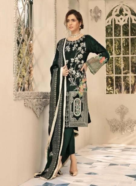 Shree Shaista Embroidered Velvet Festive Wear Pakistani Salwar Kameez Collection