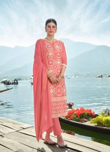Shubh Lucknowi Designer Chanderi Silk Ethnic Wear Ready Made Salwar Suit Collection