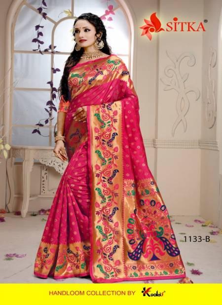 Sitka Sanyog 1133 Latest Designer Cotton Silk Festival Wear Saree Collection