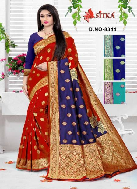 Sitka Sanyog 8344 Exclusive Collection For Festive And Wedding Function Cotton Silk Saree Collection