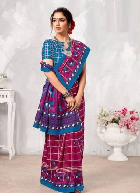 Smc Parvathi Casual Daily Wear Cotton Printed Latest Saree Collection