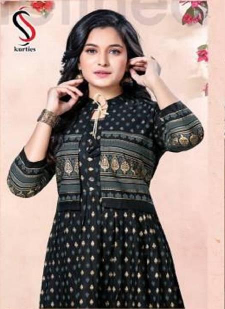 Ss Kurtis Flame Latest Fancy Ethnic Wear Designer  Rayon Printed Kurtis Collection