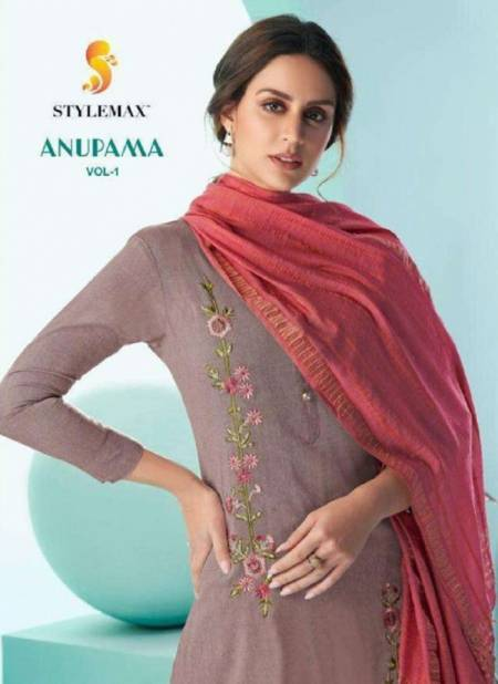 Stylemax Anupama 1 Premium Festive Wear cotton With Embroidery Ready Made Collection