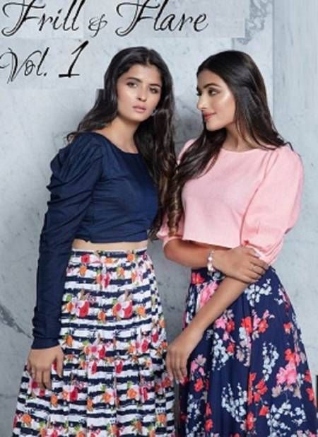 Subhkala Frill And Flare Vol 1 Latest Collection Of Fancy Party Wear Casual Wear Top With Skirt