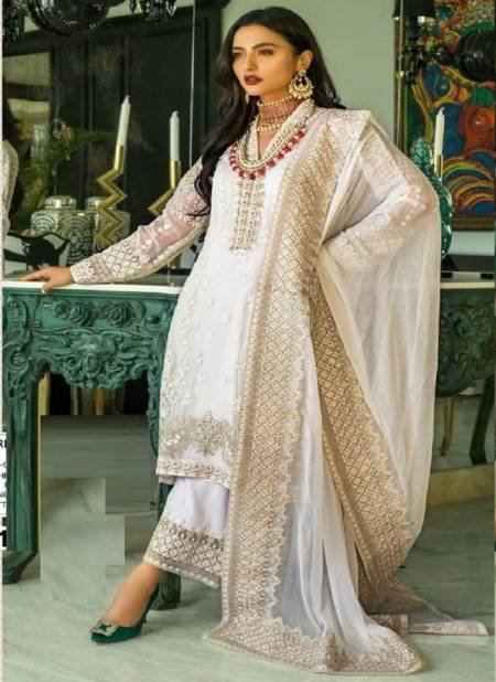 Suhani 7112 Designer Heavy Festive Wear Georgette With Hevey Embroidery Work Salwar Kameez Collection