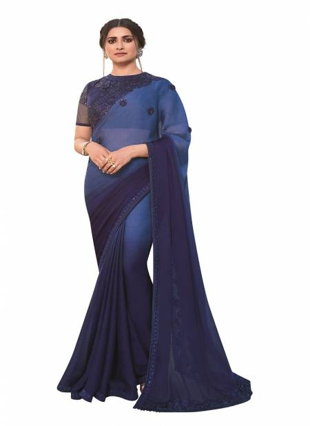 Suhani A47 Vichitra Silk Embroidery Work Stylish Party Wear Latest Designer Saree Collection