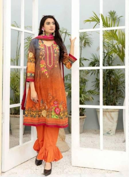 Te Karachi 1 Cotton Regular Wear Cotton Printed Dress Material Collection