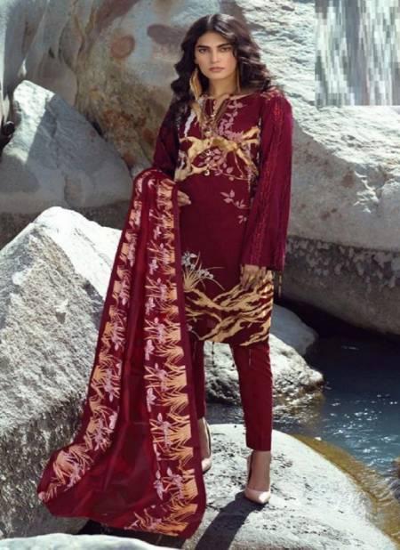 Te Karachi 2 Pure Lawn Cotton Casual Wear Printed Dress Material