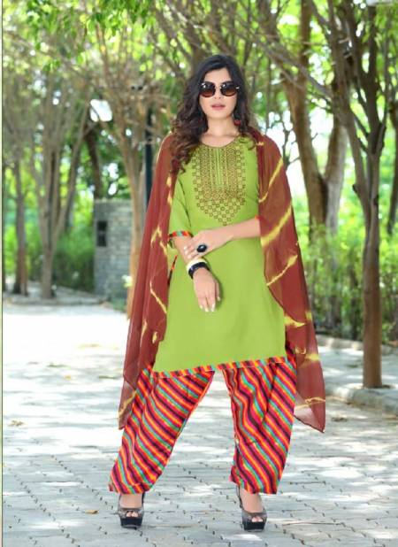 Trendy Sonam Latest Ethnic Wear Printed Rayon Designer Ready Made Collection