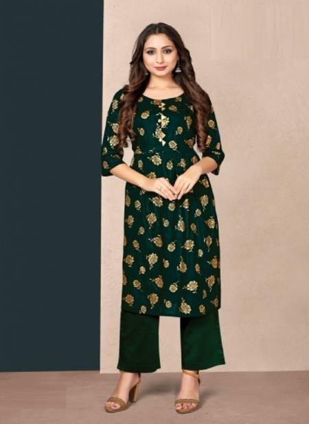 Tunic House New Pinch Regular Wear Rayon Printed Latest Kurti Collection