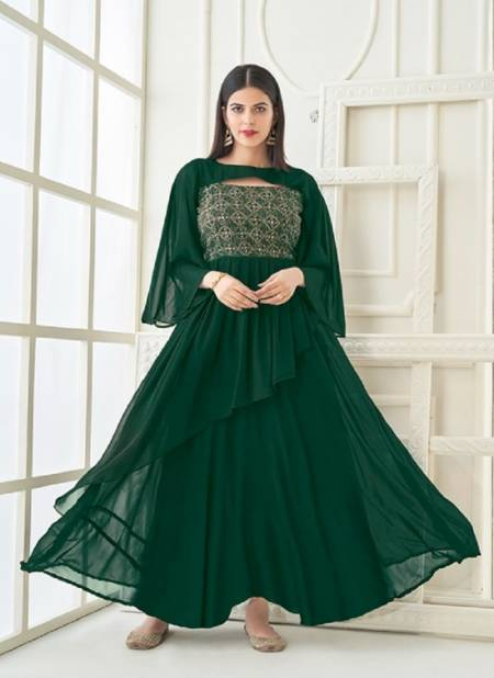Vamika Vihana Exclusive Wear Georgette Embroidery Latest Designer   Ladies Gown Collection