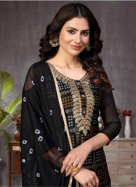 Vandana 3 Latest Fancy Regular Casual Wear Churidar Banarasi jacquard Dress Material Collection