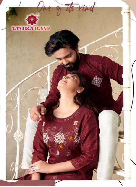 Vastra rang RAM LEELA VOL 4 Pure cotton Party Wear Couple Kurta Collection