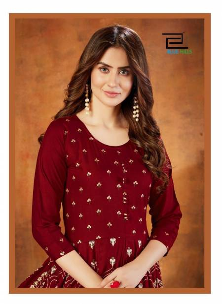 VEE FAB WALKWAY EDITION VOL-11 Party Wear Rayon Foil Print Designer Kurtis Collection