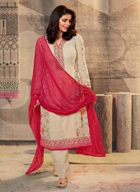 Vinay Kaseesh Excellence Designer Festive Wear Schiffli With With Printed Brasso Salwar Kameez