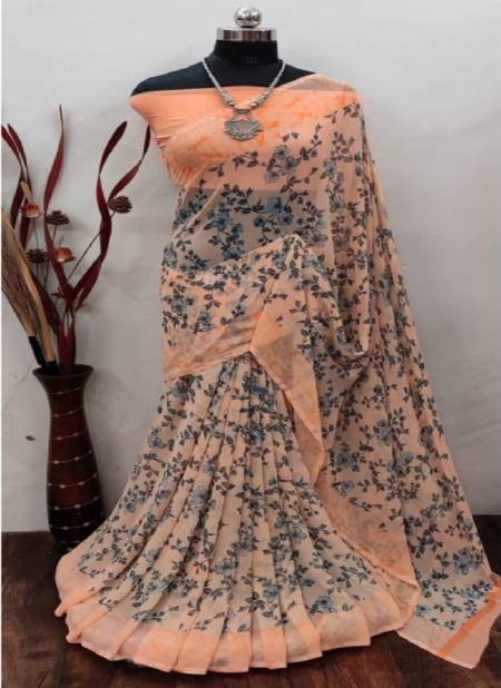 Vini 73 Print Casual Wear Printed Georgette Latest Designer Saree Collection
