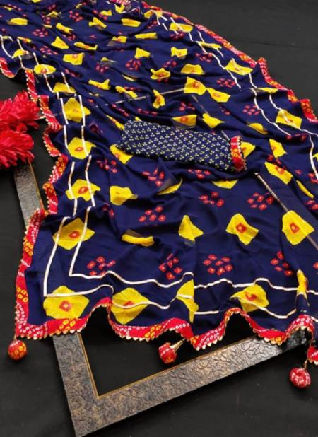 Vini 74 Casual Daily Wear Georgette Printed Latest Saree Collection