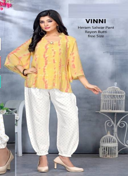 Vinni Premium Plazzo Pant Rayon Stylish Patiyala Collection