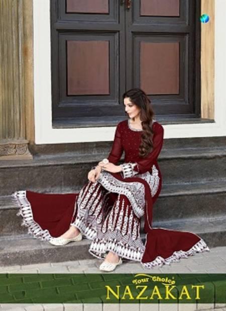 Y.c Nazakat Latest Festive Wear Fancy Blooming georgette Casual Wear Designer Dress Material Collection