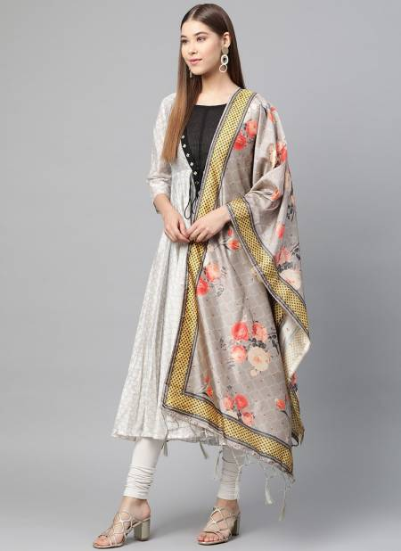 Zarika BBD Color 5 Latest Bamboo Buti Silk Beautifull Printed Dupatta Collection