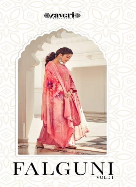 ZAVERI FALGUNI VOL-01 Latest Fancy Designer Festive Wear Pure Jam Cotton Heavy Embroidery With Diamond Work Salwar Suit Collection