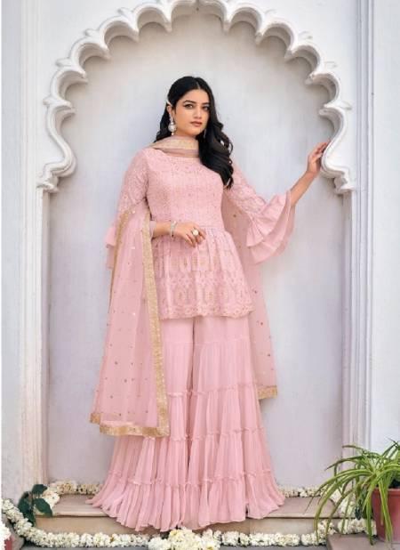 zaveri western wear 1023 festive wear viscose georgette embroidery salwar kameez collection