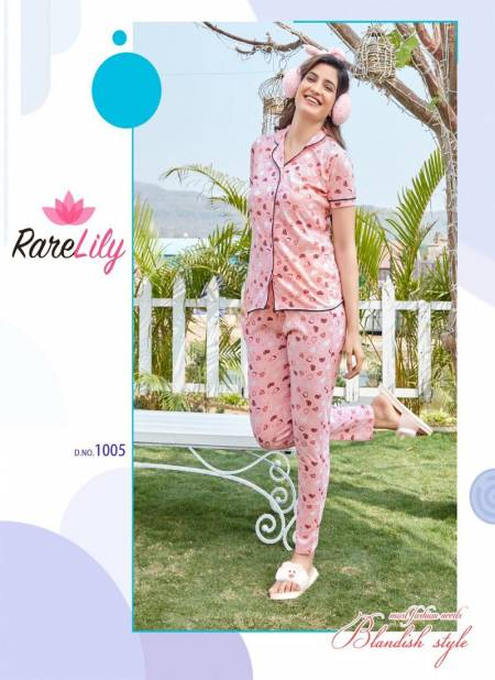 Zil Mil 4 Premium Night Wear Hosiery Pure Cotton Night Suit With Pant Collection