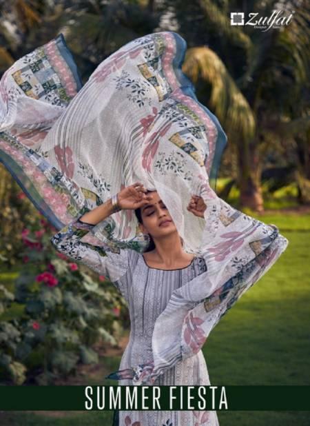 Zulfat Summer Fiesta 2 Latest Fancy Designer Festive Wear Pure Cotton Digital Printed Dress Material Collection