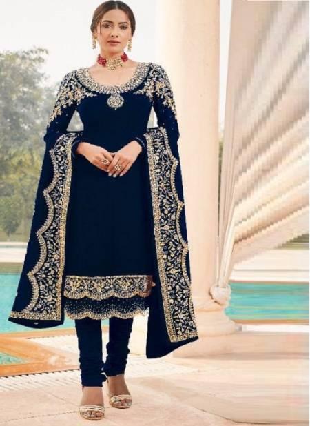 Zyrah 105 Faux Georgette Embroidery Festive Wear Designer Salwar Kameez Collection